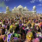 The Holi Festival in March 2013 at the Sri Sri Radha Krishna Temple in Utah County, Utah.