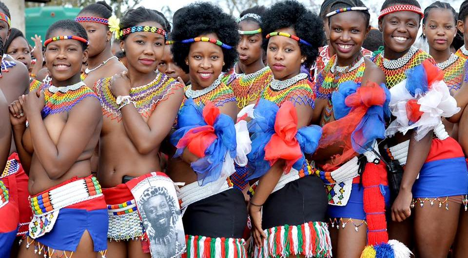 Zulu culture traditional reed dancing - YouTube